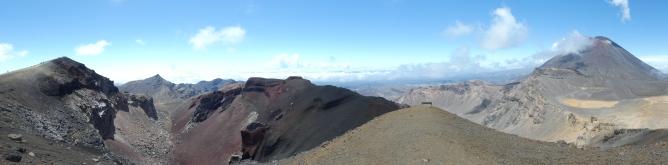 Panorama z przejścia Tongariro Alpine Crossing