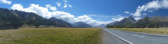 Droga do Mount Cook