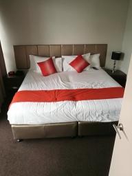 Zobaczyć takie łóżko po 25 godzinach lotu - bezcenne ;)